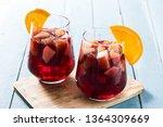 red wine sangria in glass on...   Shutterstock . vector #1364309669