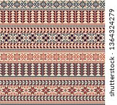 seamless pattern design with... | Shutterstock .eps vector #1364324279