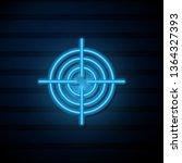 blue neon sign on dark wall... | Shutterstock .eps vector #1364327393