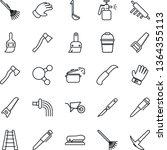 thin line icon set   pen vector ... | Shutterstock .eps vector #1364355113