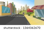 a city scape with high rise... | Shutterstock .eps vector #1364362670