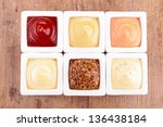 collection of condiment sauce | Shutterstock . vector #136438184