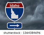 road trip to idaho  red  white... | Shutterstock . vector #1364384696