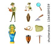isolated object of archaeology  ... | Shutterstock .eps vector #1364389559