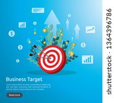 dartboard center goal. strategy ... | Shutterstock .eps vector #1364396786
