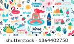 collection of cute summer time... | Shutterstock .eps vector #1364402750