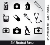 set of medical icons  vector... | Shutterstock .eps vector #136440563