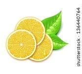 lemon slice - stock vector