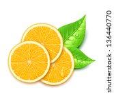 orange slice - stock vector