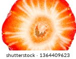 slice of strawberry isolated on ... | Shutterstock . vector #1364409623