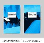 set of vector business card... | Shutterstock .eps vector #1364410019