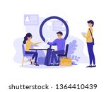 human resources concept vector... | Shutterstock .eps vector #1364410439