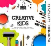 kids art craft  education ... | Shutterstock .eps vector #1364419163