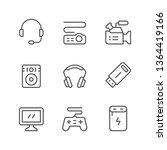 set line icons of gadget | Shutterstock .eps vector #1364419166