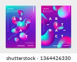 abstract gradient poster and... | Shutterstock .eps vector #1364426330
