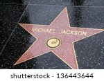 Small photo of LOS ANGELES - APR 25: Michael Jackson's star in Hollywood shines brightly on April 25, 2013 in Los Angeles, California