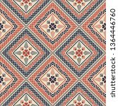 seamless pattern design with... | Shutterstock .eps vector #1364446760