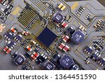 electronic circuit board close... | Shutterstock . vector #1364451590