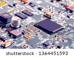 electronic circuit board close... | Shutterstock . vector #1364451593