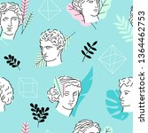 seamless pattern with ancient... | Shutterstock .eps vector #1364462753