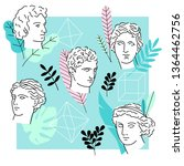 illustration of an ancient... | Shutterstock .eps vector #1364462756