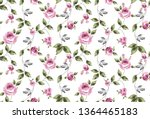 seamless fabric pattern with... | Shutterstock . vector #1364465183