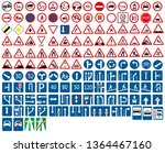 road signs collection set vector | Shutterstock .eps vector #1364467160