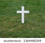 White Cross Grave Maker...
