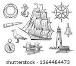 a set of sea adventures. anchor ...   Shutterstock .eps vector #1364484473