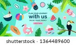 summer theme banner with exotic ... | Shutterstock .eps vector #1364489600