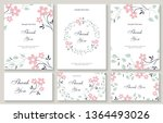 flower vector card. template.... | Shutterstock .eps vector #1364493026