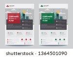 corporate business flyer poster ... | Shutterstock .eps vector #1364501090