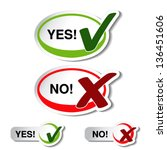 vector oval yes no button  ... | Shutterstock .eps vector #136451606