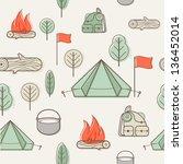 vector creative seamless... | Shutterstock .eps vector #136452014