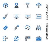 seo   internet marketing icons  ... | Shutterstock .eps vector #136452650