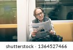 man reading newspaper in the... | Shutterstock . vector #1364527466