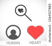 search heart  icon vector