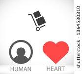handcart vector icon   Shutterstock .eps vector #1364530310