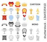 awards and trophies cartoon... | Shutterstock . vector #1364535410