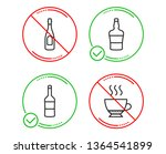do or stop. wine  champagne and ... | Shutterstock .eps vector #1364541899