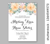 rose wedding invitation peony... | Shutterstock .eps vector #1364549573
