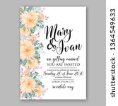 rose wedding invitation peony... | Shutterstock .eps vector #1364549633