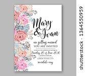 wedding invitation peony rose... | Shutterstock .eps vector #1364550959