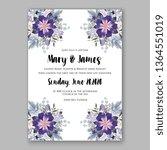 wedding invitation peony rose... | Shutterstock .eps vector #1364551019