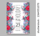 wedding invitation peony rose... | Shutterstock .eps vector #1364551070