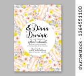 wedding invitation peony rose... | Shutterstock .eps vector #1364551100