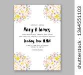 wedding invitation peony rose... | Shutterstock .eps vector #1364551103