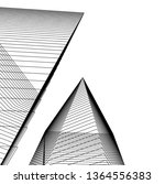 abstract architecture  vector...   Shutterstock .eps vector #1364556383