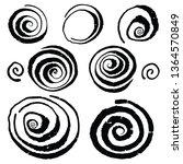 vector grunge organic ink... | Shutterstock .eps vector #1364570849