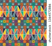 seamless pattern design with... | Shutterstock .eps vector #1364572886